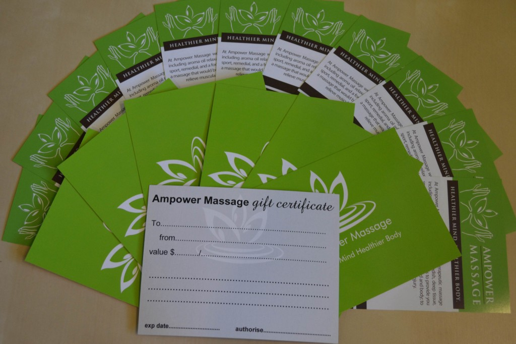 Ampower Massage Gift Certificate
